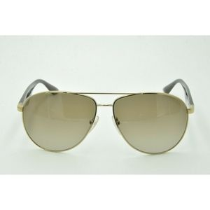 Prada SPR 53Q Sunglasses ZVN-1X1 Pale Gold Brown